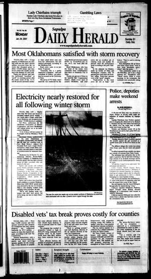 Primary view of Sapulpa Daily Herald (Sapulpa, Okla.), Vol. 92, No. 68, Ed. 1 Monday, January 29, 2007