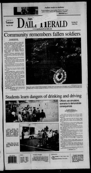 Primary view of Sapulpa Daily Herald (Sapulpa, Okla.), Vol. 92, No. 171, Ed. 1 Tuesday, May 29, 2007