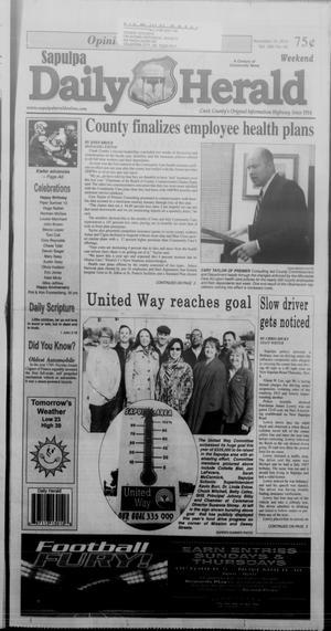 Primary view of Sapulpa Daily Herald (Sapulpa, Okla.), Vol. 100, No. 45, Ed. 1 Sunday, November 16, 2014