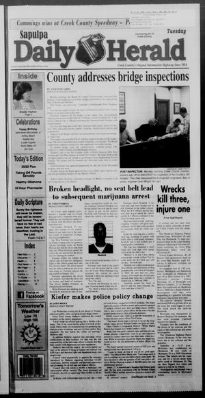 Primary view of Sapulpa Daily Herald (Sapulpa, Okla.), Vol. 97, No. 220, Ed. 1 Tuesday, July 24, 2012