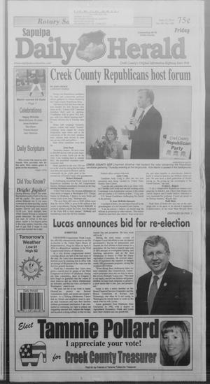 Primary view of Sapulpa Daily Herald (Sapulpa, Okla.), Vol. 99, No. 189, Ed. 1 Friday, June 13, 2014