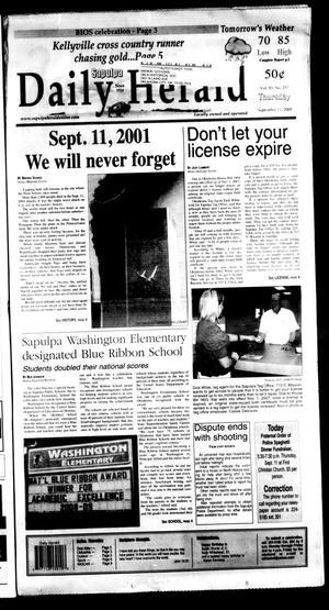 Primary view of Sapulpa Daily Herald (Sapulpa, Okla.), Vol. 93, No. 258, Ed. 1 Thursday, September 11, 2008