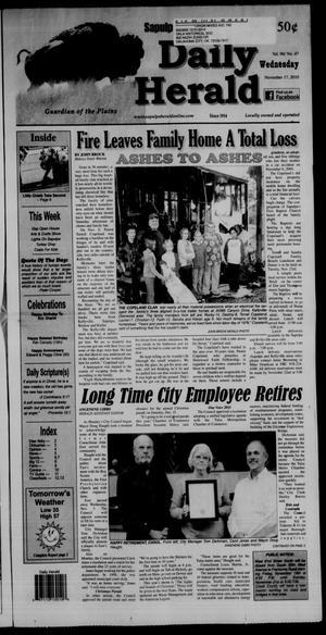 Primary view of Sapulpa Daily Herald (Sapulpa, Okla.), Vol. 96, No. 47, Ed. 1 Wednesday, November 17, 2010