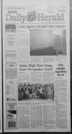 Primary view of Sapulpa Daily Herald (Sapulpa, Okla.), Vol. 99, No. 163, Ed. 1 Thursday, May 8, 2014