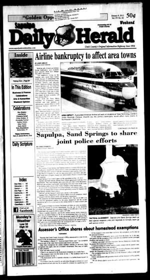 Primary view of Sapulpa Daily Herald (Sapulpa, Okla.), Vol. 97, No. 82, Ed. 1 Sunday, January 8, 2012