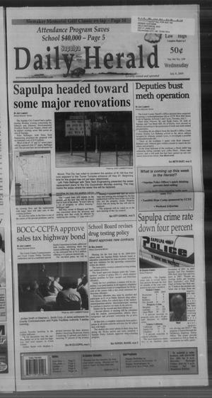 Primary view of Sapulpa Daily Herald (Sapulpa, Okla.), Vol. 94, No. 239, Ed. 1 Wednesday, July 8, 2009