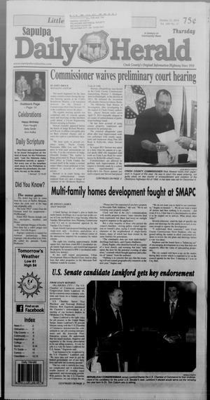 Primary view of Sapulpa Daily Herald (Sapulpa, Okla.), Vol. 100, No. 28, Ed. 1 Thursday, October 23, 2014