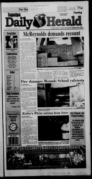Primary view of Sapulpa Daily Herald (Sapulpa, Okla.), Vol. 97, No. 206, Ed. 1 Tuesday, July 3, 2012