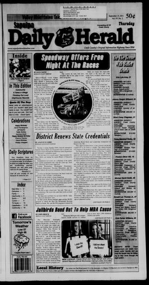 Primary view of Sapulpa Daily Herald (Sapulpa, Okla.), Vol. 97, No. 2, Ed. 1 Thursday, September 15, 2011