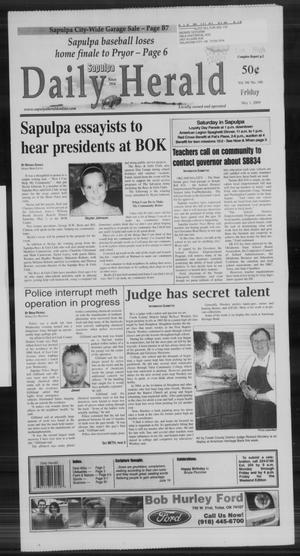 Primary view of Sapulpa Daily Herald (Sapulpa, Okla.), Vol. 94, No. 190, Ed. 1 Friday, May 1, 2009