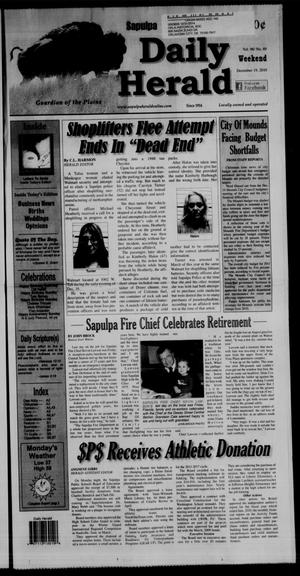 Primary view of object titled 'Sapulpa Daily Herald (Sapulpa, Okla.), Vol. 96, No. 69, Ed. 1 Sunday, December 19, 2010'.