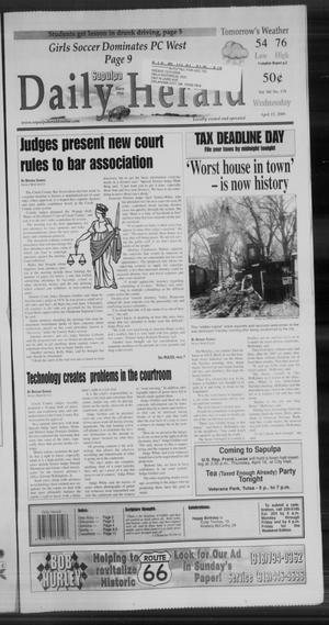 Primary view of Sapulpa Daily Herald (Sapulpa, Okla.), Vol. 94, No. 178, Ed. 1 Wednesday, April 15, 2009