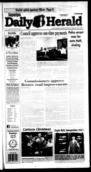 Primary view of Sapulpa Daily Herald (Sapulpa, Okla.), Vol. 97, No. 59, Ed. 1 Tuesday, December 6, 2011