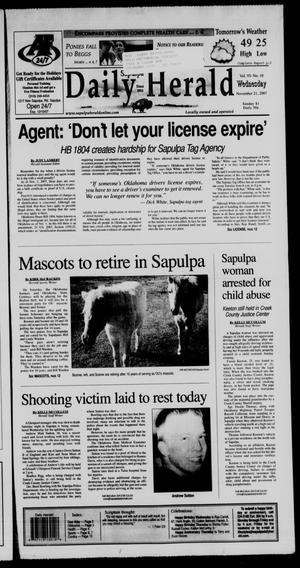 Primary view of Sapulpa Daily Herald (Sapulpa, Okla.), Vol. 93, No. 10, Ed. 1 Wednesday, November 21, 2007