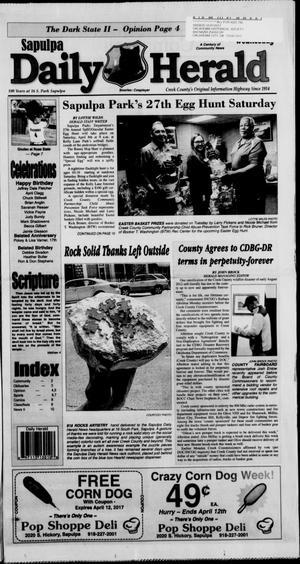Primary view of Sapulpa Daily Herald (Sapulpa, Okla.), Vol. 102, No. 145, Ed. 1 Wednesday, April 5, 2017
