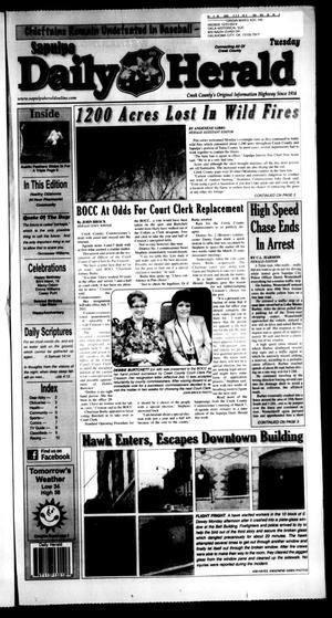 Primary view of Sapulpa Daily Herald (Sapulpa, Okla.), Vol. 96, No. 123, Ed. 1 Tuesday, March 8, 2011