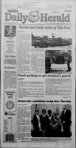 Primary view of Sapulpa Daily Herald (Sapulpa, Okla.), Vol. 100, No. 26, Ed. 1 Tuesday, October 21, 2014