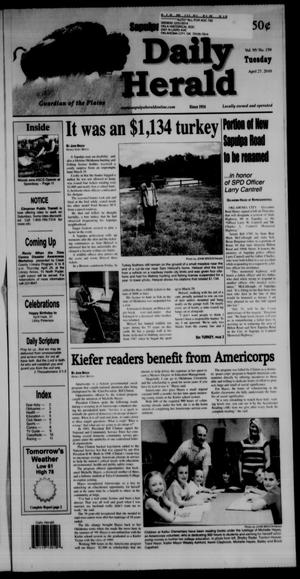 Primary view of Sapulpa Daily Herald (Sapulpa, Okla.), Vol. 95, No. 159, Ed. 1 Tuesday, April 27, 2010