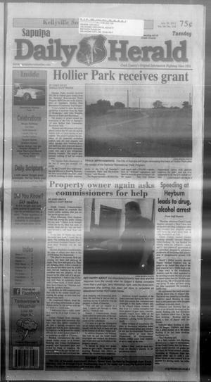 Primary view of Sapulpa Daily Herald (Sapulpa, Okla.), Vol. 98, No. 218, Ed. 1 Tuesday, July 30, 2013