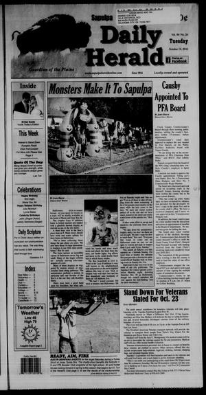 Primary view of object titled 'Sapulpa Daily Herald (Sapulpa, Okla.), Vol. 96, No. 26, Ed. 1 Tuesday, October 19, 2010'.