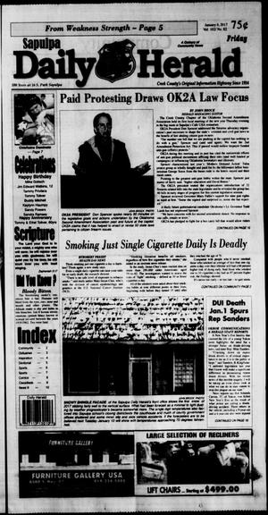 Primary view of Sapulpa Daily Herald (Sapulpa, Okla.), Vol. 102, No. 82, Ed. 1 Friday, January 6, 2017