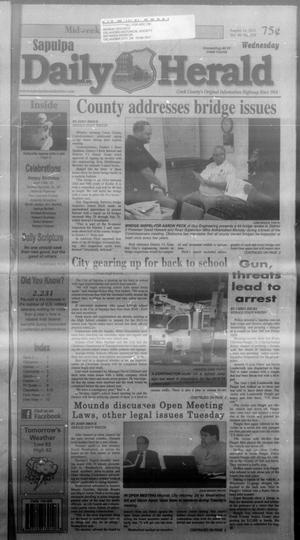 Primary view of Sapulpa Daily Herald (Sapulpa, Okla.), Vol. 98, No. 229, Ed. 1 Wednesday, August 14, 2013
