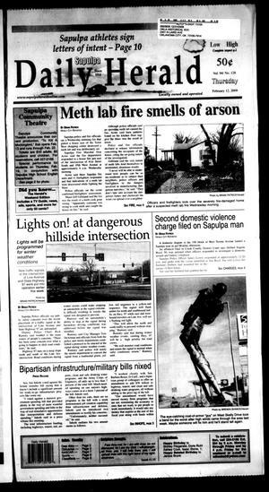 Primary view of Sapulpa Daily Herald (Sapulpa, Okla.), Vol. 94, No. 128, Ed. 1 Thursday, February 12, 2009