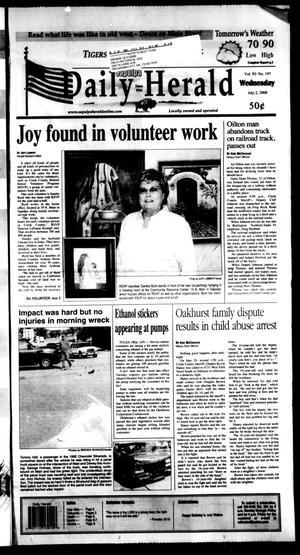 Primary view of Sapulpa Daily Herald (Sapulpa, Okla.), Vol. 93, No. 197, Ed. 1 Wednesday, July 2, 2008