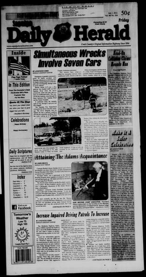 Primary view of Sapulpa Daily Herald (Sapulpa, Okla.), Vol. 96, No. 204, Ed. 1 Friday, July 1, 2011