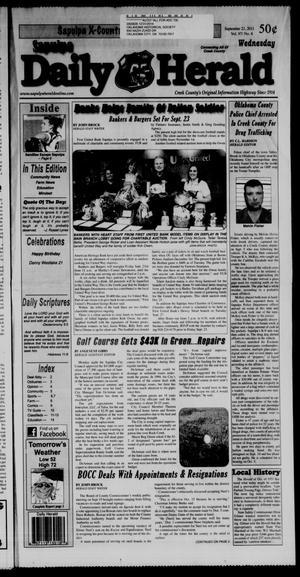 Primary view of Sapulpa Daily Herald (Sapulpa, Okla.), Vol. 97, No. 6, Ed. 1 Wednesday, September 21, 2011