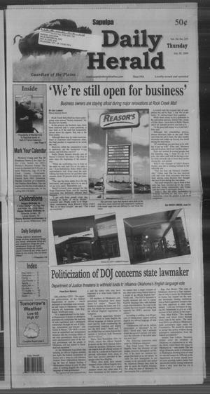 Primary view of Sapulpa Daily Herald (Sapulpa, Okla.), Vol. 94, No. 255, Ed. 1 Thursday, July 30, 2009