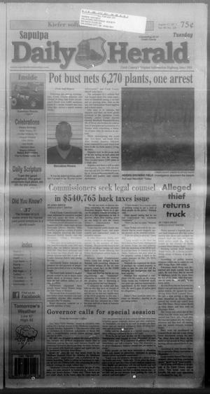 Primary view of Sapulpa Daily Herald (Sapulpa, Okla.), Vol. 98, No. 228, Ed. 1 Tuesday, August 13, 2013