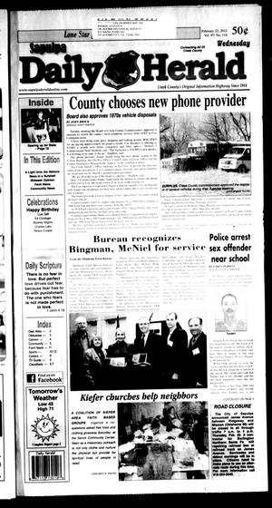 Primary view of Sapulpa Daily Herald (Sapulpa, Okla.), Vol. 97, No. 114, Ed. 1 Wednesday, February 22, 2012