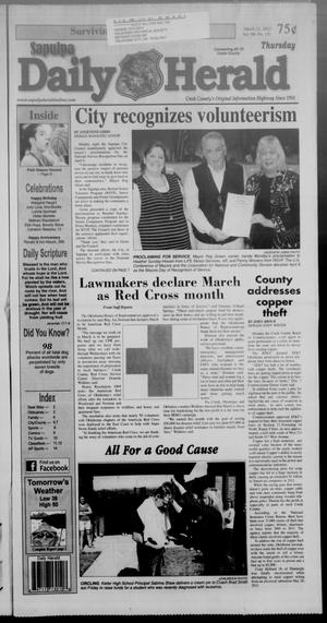 Primary view of Sapulpa Daily Herald (Sapulpa, Okla.), Vol. 98, No. 131, Ed. 1 Thursday, March 21, 2013