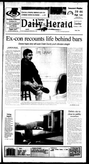 Primary view of Sapulpa Daily Herald (Sapulpa, Okla.), Vol. 93, No. 70, Ed. 1 Sunday, February 3, 2008