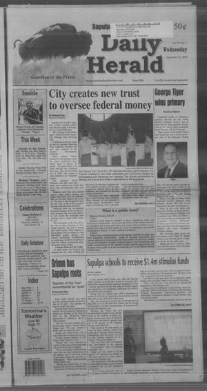 Primary view of Sapulpa Daily Herald (Sapulpa, Okla.), Vol. 94, No. 294, Ed. 1 Wednesday, September 23, 2009