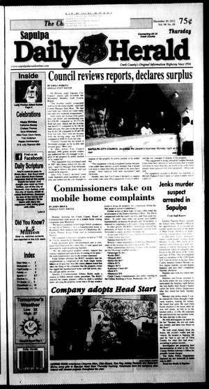 Primary view of Sapulpa Daily Herald (Sapulpa, Okla.), Vol. 98, No. 68, Ed. 1 Thursday, December 20, 2012