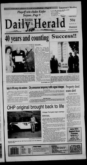 Primary view of Sapulpa Daily Herald (Sapulpa, Okla.), Vol. 94, No. 55, Ed. 1 Sunday, November 16, 2008