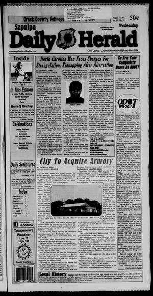 Primary view of Sapulpa Daily Herald (Sapulpa, Okla.), Vol. 96, No. 241, Ed. 1 Wednesday, August 24, 2011