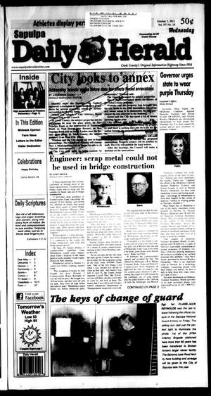 Primary view of Sapulpa Daily Herald (Sapulpa, Okla.), Vol. 97, No. 16, Ed. 1 Wednesday, October 5, 2011