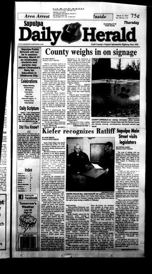 Primary view of Sapulpa Daily Herald (Sapulpa, Okla.), Vol. 99, No. 135, Ed. 1 Thursday, March 27, 2014
