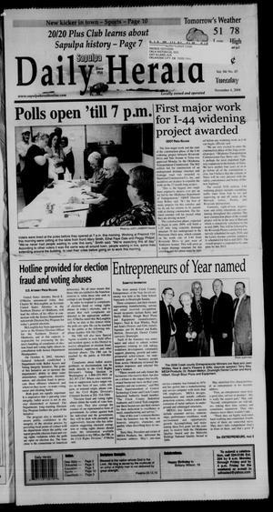 Primary view of Sapulpa Daily Herald (Sapulpa, Okla.), Vol. 94, No. 45, Ed. 1 Tuesday, November 4, 2008