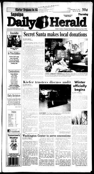 Primary view of Sapulpa Daily Herald (Sapulpa, Okla.), Vol. 97, No. 71, Ed. 1 Thursday, December 22, 2011
