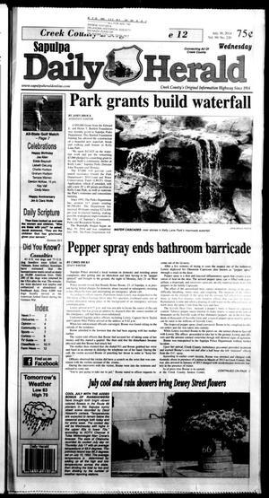 Primary view of Sapulpa Daily Herald (Sapulpa, Okla.), Vol. 99, No. 221, Ed. 1 Wednesday, July 30, 2014