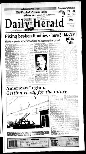 Primary view of Sapulpa Daily Herald (Sapulpa, Okla.), Vol. 93, No. 247, Ed. 1 Friday, August 29, 2008
