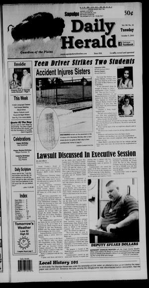 Primary view of Sapulpa Daily Herald (Sapulpa, Okla.), Vol. 96, No. 16, Ed. 1 Tuesday, October 5, 2010
