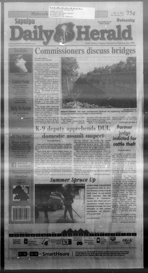 Primary view of Sapulpa Daily Herald (Sapulpa, Okla.), Vol. 98, No. 219, Ed. 1 Wednesday, July 31, 2013