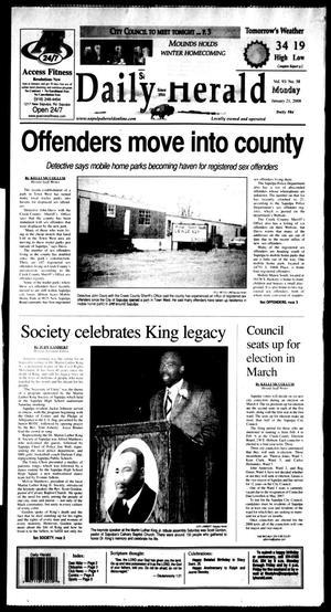 Primary view of Sapulpa Daily Herald (Sapulpa, Okla.), Vol. 93, No. 59, Ed. 1 Monday, January 21, 2008