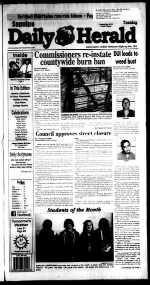 Primary view of Sapulpa Daily Herald (Sapulpa, Okla.), Vol. 97, No. 15, Ed. 1 Tuesday, October 4, 2011