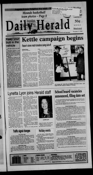Primary view of Sapulpa Daily Herald (Sapulpa, Okla.), Vol. 94, No. 61, Ed. 1 Sunday, November 23, 2008
